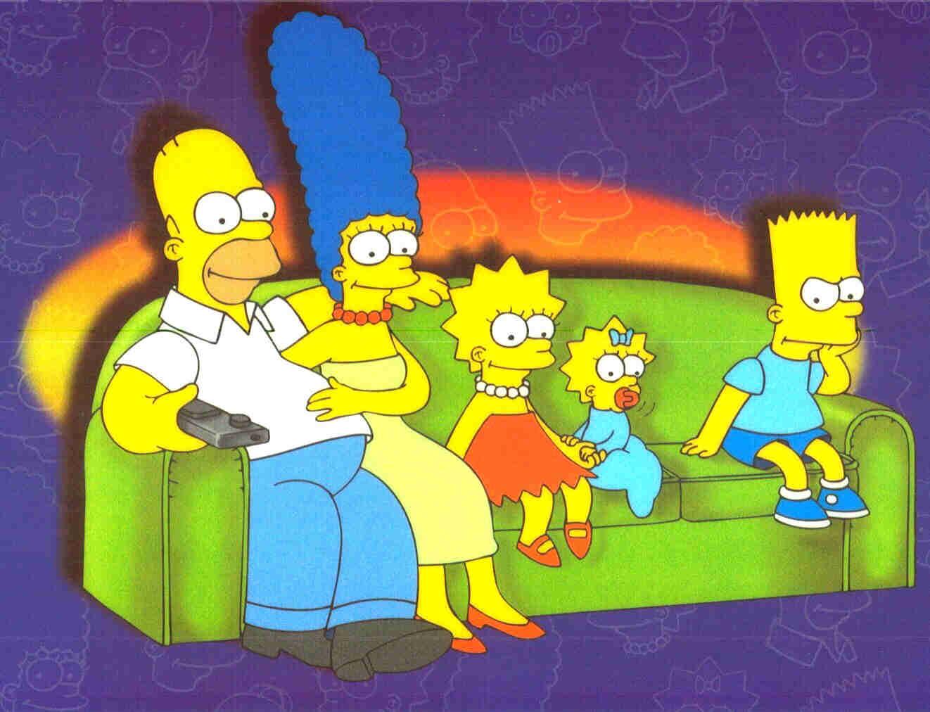 Les Simpson Sur Leur Fameux Canap